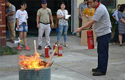 Fire drill for employees in 2017